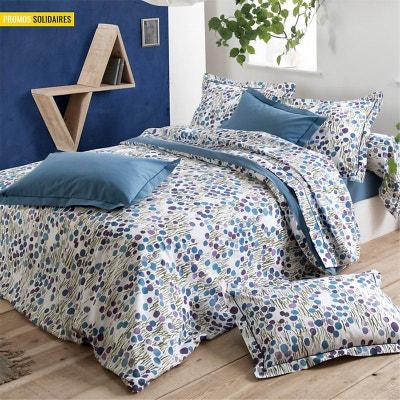 housse de couette bleue avec fleurs la redoute. Black Bedroom Furniture Sets. Home Design Ideas