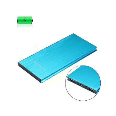 Batterie externe Universelle 12000mAh Bleue Micro USB AMAHOUSSE