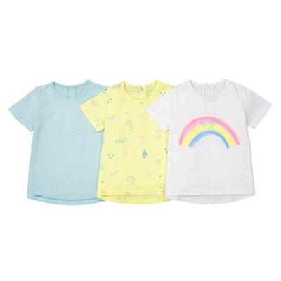 T-shirt Oeko Tex 1 mês - 3 anos (lote de 3) T-shirt Oeko Tex 1 mês - 3 anos (lote de 3) La Redoute Collections