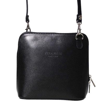 Petit sac bandouliere cuir noir CHAPEAU-TENDANCE