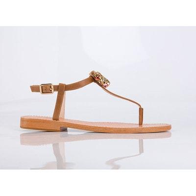 Sandálias em pele, detalhe laço, Ballydolly MELLOW YELLOW