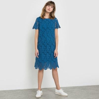 Sukienka z gipiury z czystej bawełny z krótkim rękawem La Redoute Collections