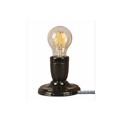 Lampe Ampoule Céramique Noir DEBBIE Lampe Ampoule Céramique Noir DEBBIE DECLIKDECO