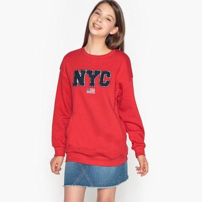 Bluza oversize z nadrukiem 10-16 lat Bluza oversize z nadrukiem 10-16 lat La Redoute Collections