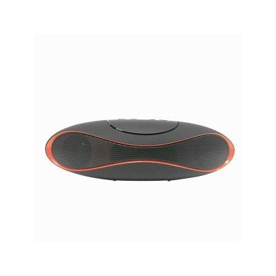 Mini enceinte bluetooth design noire et rouge COQUEDISCOUNT