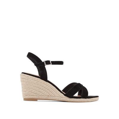 Suede Wedge Sandals Suede Wedge Sandals JONAK