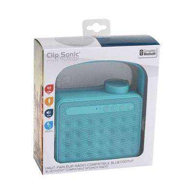 Clip Sonic Technology TES142B Haut-Parleur Radio Bluetooth Bleu