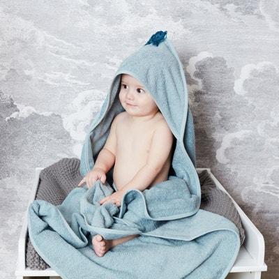 Cape de bain bébé à pompon coton bio Cape de bain bébé à pompon coton bio La Redoute Interieurs