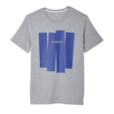 T-shirt col rond motif devant La Redoute Collections