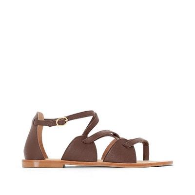 Sandálias em pele La Redoute Collections
