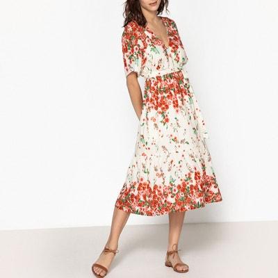 Langes, ausgestelltes Kleid RORY mit Blumenmuster LEON and HARPER