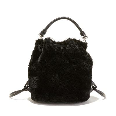 Sac à main avec porté sac à dos, façon fourrure Sac à main avec porté sac à dos, façon fourrure La Redoute Collections