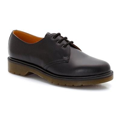 Dr Martens Everley Youth Noir En Cuir Derby Chaussures qwCUD4Pj