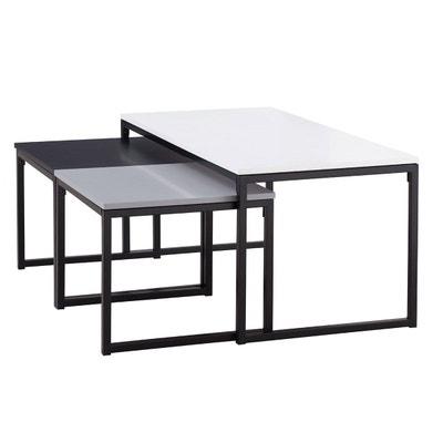 Table Basse Salon Blanc Laque En Solde La Redoute