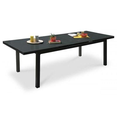 Table de jardin aluminium et verre avec rallonge en solde | La Redoute