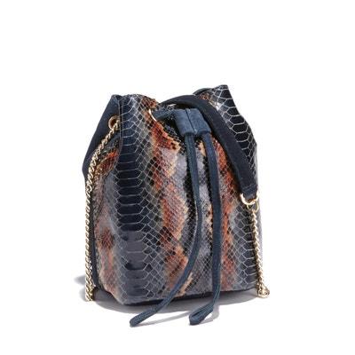 Nuage Python Leather Bucket Bag Nuage Python Leather Bucket Bag PETITE MENDIGOTE