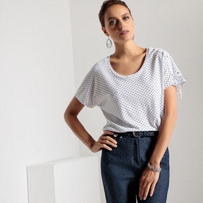 Bedrukt T-shirt, katoen & modal Bedrukt T-shirt, katoen & modal ANNE WEYBURN