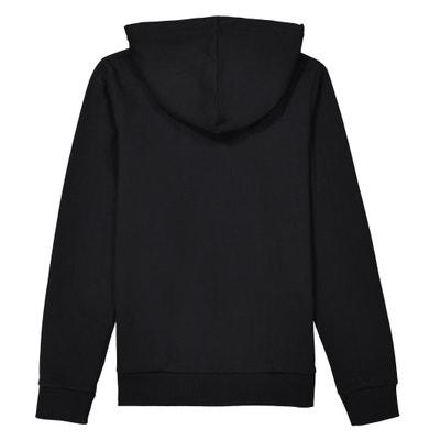 Bedrukte sweater met kap, 10-16 jr La Redoute Collections