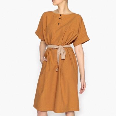 Short-Sleeved Poplin Dress POMANDERE