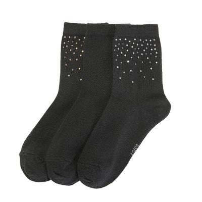Chaussettes avec petits clous, lot de 3 Chaussettes avec petits clous, lot de 3 La Redoute Collections