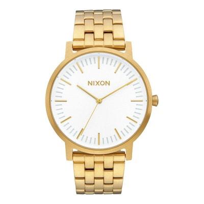 Montre Porter All Gold Cadran Sunray Blanc pour homme NIXON