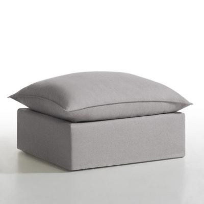 Pouf déhoussable lin/coton, Nélia La Redoute Interieurs