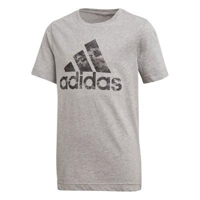 8f57b6db38f1d T-shirt Adidas Badge Of Sport Gris Enfant T-shirt Adidas Badge Of Sport