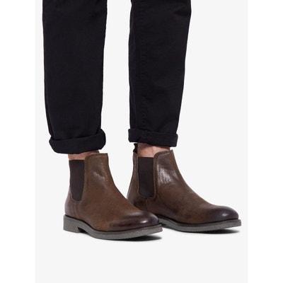 Chelsea boots marron en solde   La Redoute bbdebef01188