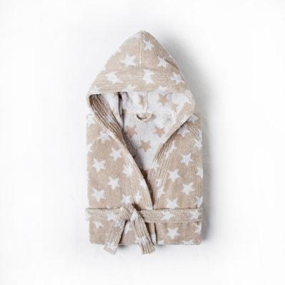 Roupão para criança, com capuz, em puro algodão STARS Roupão para criança, com capuz, em puro algodão STARS La Redoute Interieurs