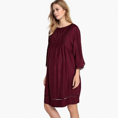 Robe de grossesse avec broderies Robe de grossesse avec broderies La Redoute Maternité