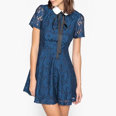 Платье расклешенное из кружева с отложным воротником Платье расклешенное из кружева с отложным воротником SISTER JANE