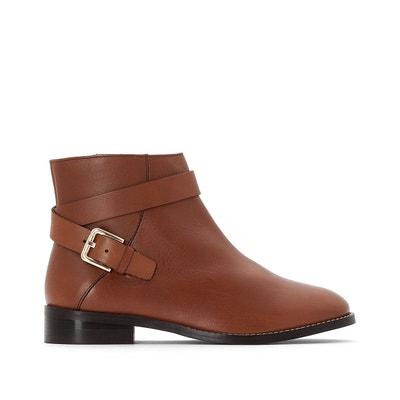 Boots cuir à boucle La Redoute Collections