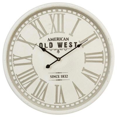 Horloge horloge murale design la redoute for Pendule blanche design