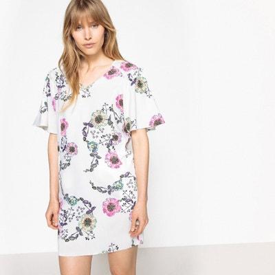 Vestido estampado às flores, mangas largas fantasia La Redoute Collections