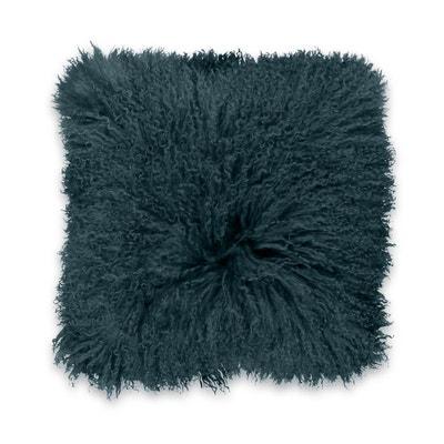Housse de coussin laine de Mongolie OSIA Housse de coussin laine de Mongolie OSIA LA REDOUTE INTERIEURS