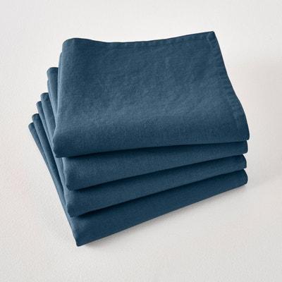 Serviettes de table lin lavé VICTORINE (lot de 4) Serviettes de table lin lavé VICTORINE (lot de 4) LA REDOUTE INTERIEURS
