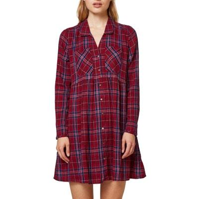 Robe tunique à carreaux, courte Robe tunique à carreaux, courte ESPRIT