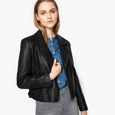 Faux Leather Biker Jacket SEE U SOON