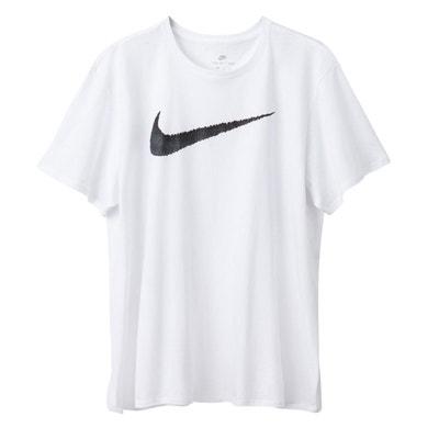 Tee shirt  col rond manches courtes imprimé devant NIKE
