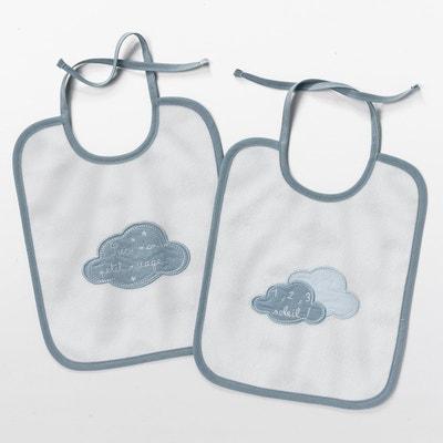 """Lote de 2 babetes para bebé, """"Dans les nuages"""" Lote de 2 babetes para bebé, """"Dans les nuages"""" La Redoute Interieurs"""