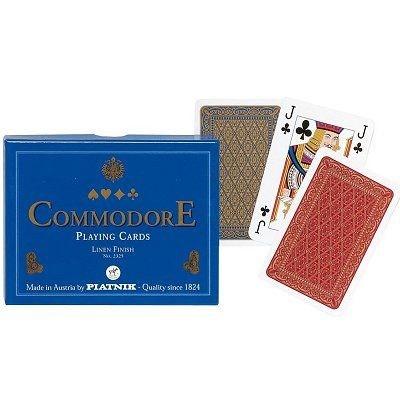 Jeu de cartes : Coffret de 2 x 55 cartes : Commodore bleu PIATNIK