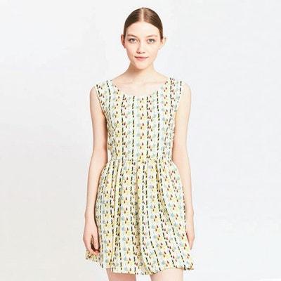 Bedrukte jurk zonder mouwen Bedrukte jurk zonder mouwen MIGLE+ME