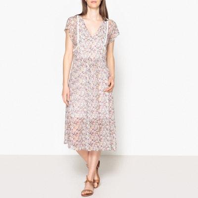 Diana Floral Print Draping Dress BA&SH