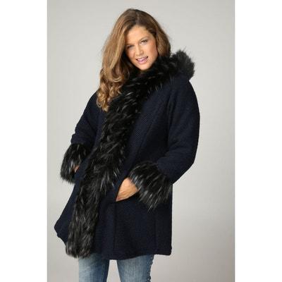 Manteau fausse fourrure avec capuche Manteau fausse fourrure avec capuche PAPRIKA