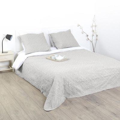 dessus de lit et 2 taies arabesque 260 x 240 cm dessus de lit - Dessus De Lit Taupe