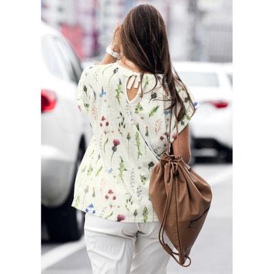 Floral Print Slogan T-Shirt ULLA POPKEN