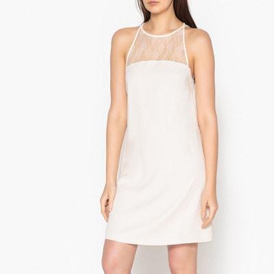 Bina Short Sleeveless Dress with Lace Inset SAMSOE AND SAMSOE