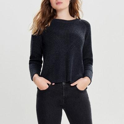Пуловер с круглым вырезом и длинными рукавами Пуловер с круглым вырезом и длинными рукавами JACQUELINE DE YONG