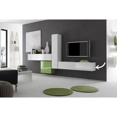 Meuble tv meuble tv design blanc d 39 angle miliboo la for Element mural tv