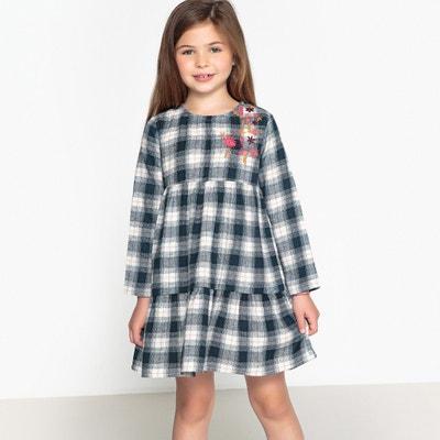 Besticktes Kleid mit Karomuster, 3-12 Jahre Besticktes Kleid mit Karomuster, 3-12 Jahre La Redoute Collections